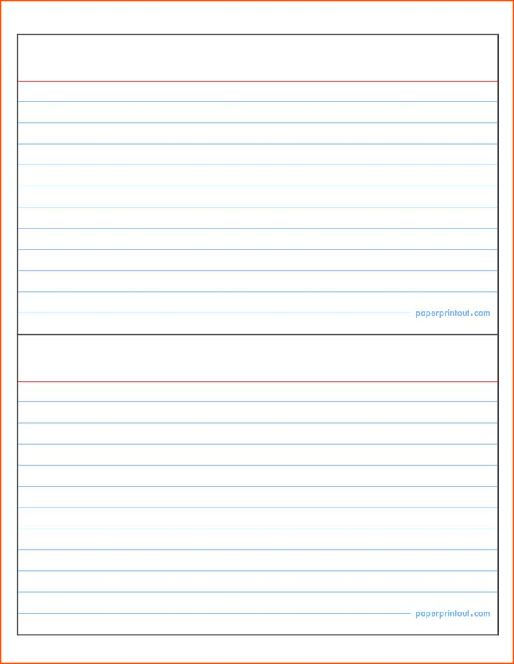 note card template microsoft word