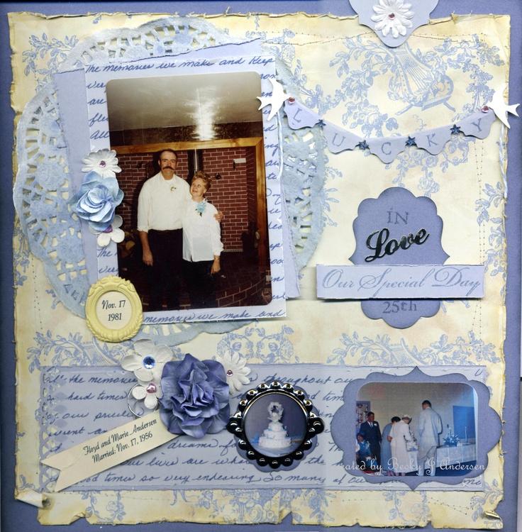 Andersen th wedding anniversary scrapbook