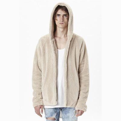 PUNKOOL Sherpa Hoodie Kanye West Men Hip Hop Fleece Sherpa Hoodies Men US Street Style Hooded Yeezys Hoodie Men Sweatshirts