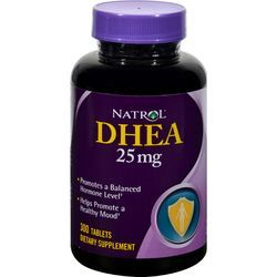 $21.67- Natrol DHEA - 25 mg - 300 Tablets, A hormone naturally found in the body that declines with age, DHEA converts itself into estrogen and testosterone.