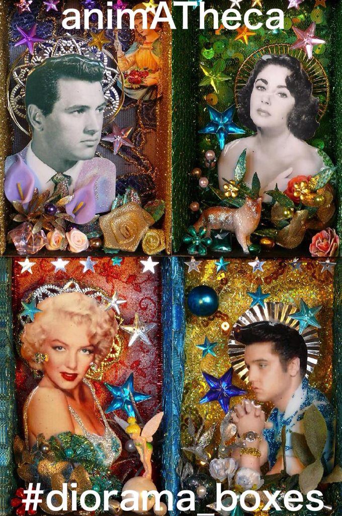 Rock, Liz, Marilyn and Elvis