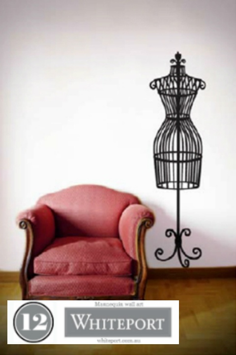 12. Mannequin wall art $129.95. 40. Bird cage room art $129.95 #WhiteportBingo: Win 1 of 3 Decals from #Whiteport by entering the competition at http://winarena.com.au. Every entrant gets a 20% off #voucher!