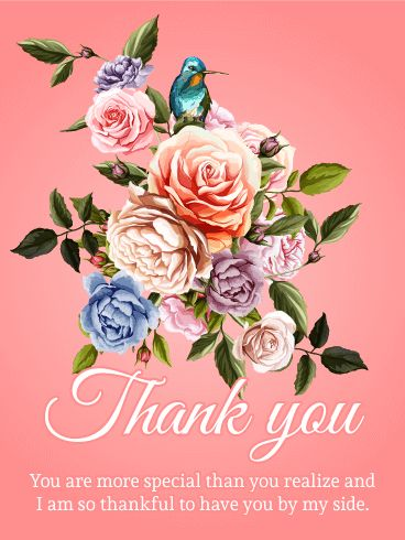 You are Special - Thank You Card: If you want to make someone feel good about themselves, this card is a must-have. The wording is generic enough that it can apply to almost any situation, but it's heartfelt enough that it seems personal. You can't go wrong with flowers on a card, either!