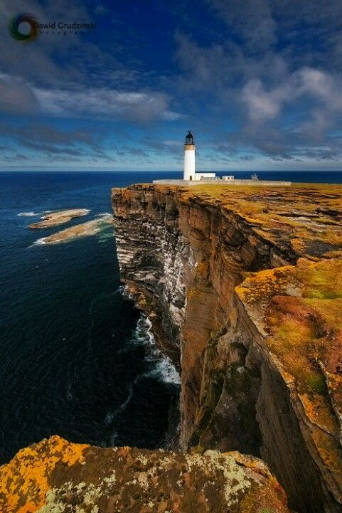Noop Head Lighthouse. Westray Orkney. One of the best places to see Puffins in…