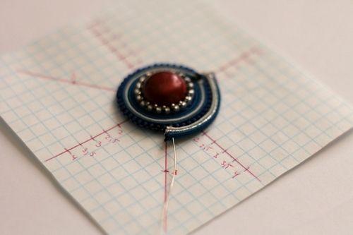 Урок 20 - Сутажный диск. | biser.info - всё о бисере и бисерном творчестве