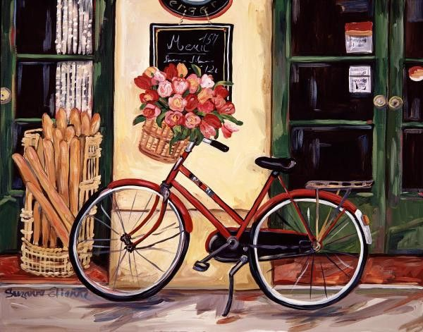My Red Bicycle by Suzanne Etienne