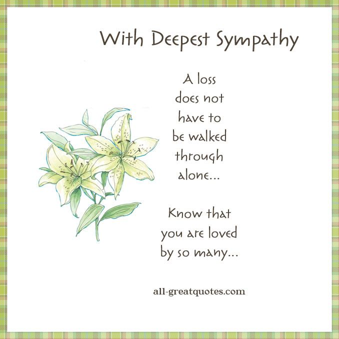 Best  Deepest Sympathy Messages Ideas On   With