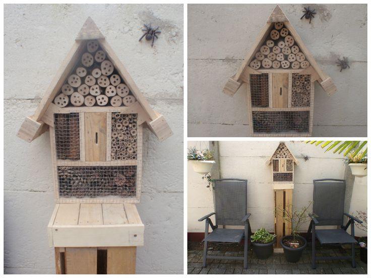Insectenhotel van pallete hout