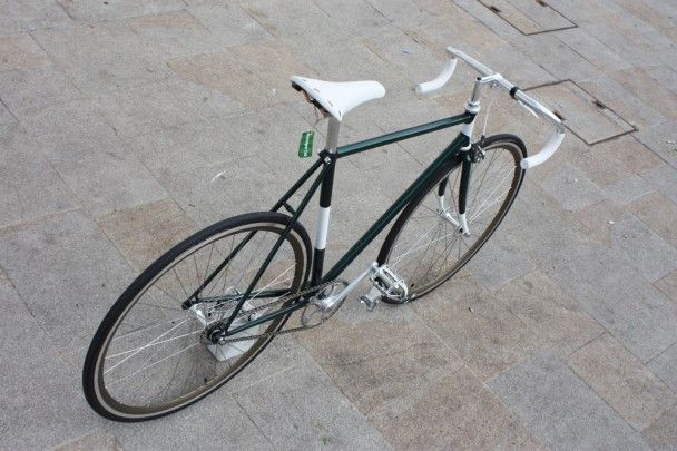 "Fixed gear bicycle ""Spinaci"", by Biascagne Cicli"