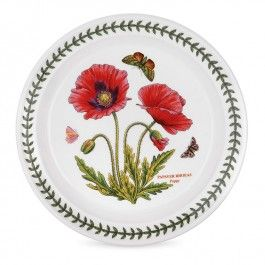 New for 2014 - Portmeirion Botanic Garden Salad Plate, Poppy Motif. Buy Portmeirion china at www.giftcollector.com