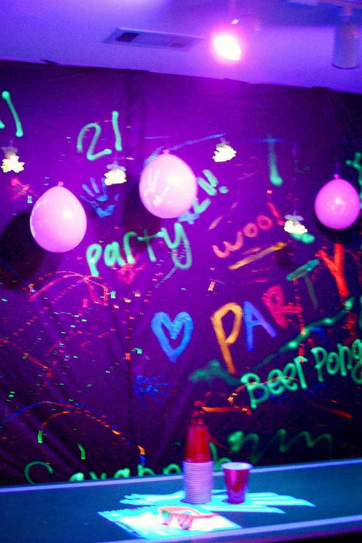 189 best cs sweet 16 rave images on pinterest 30th anniversary block off certain area that can get paint everywhere for black light party amipublicfo Image collections