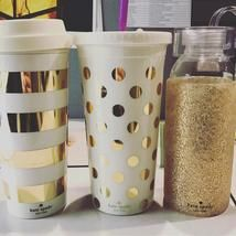 gold dots insulated tumbler | Kate Spade New York