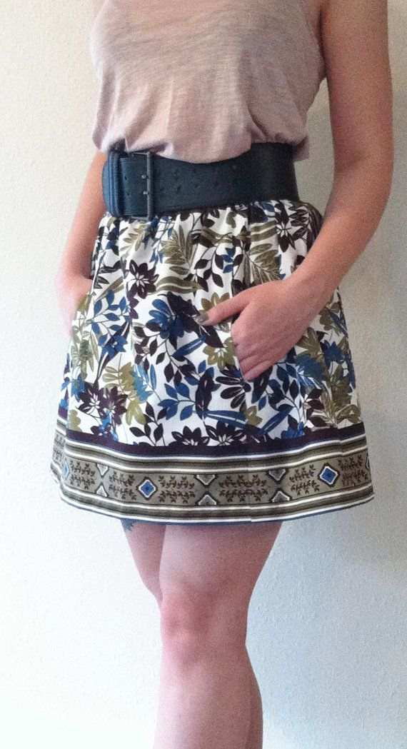 Ситцевая летняя юбка от Mertenville на Etsy