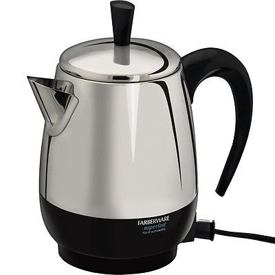 4 Cup Stainless Steel Percolator, Farberware Electric Coffee Maker Pot, FCP240