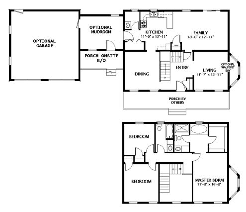 Mudroom Between Home And Garage Modular Home Floor Plan: Traditional  Two Stories, Willington