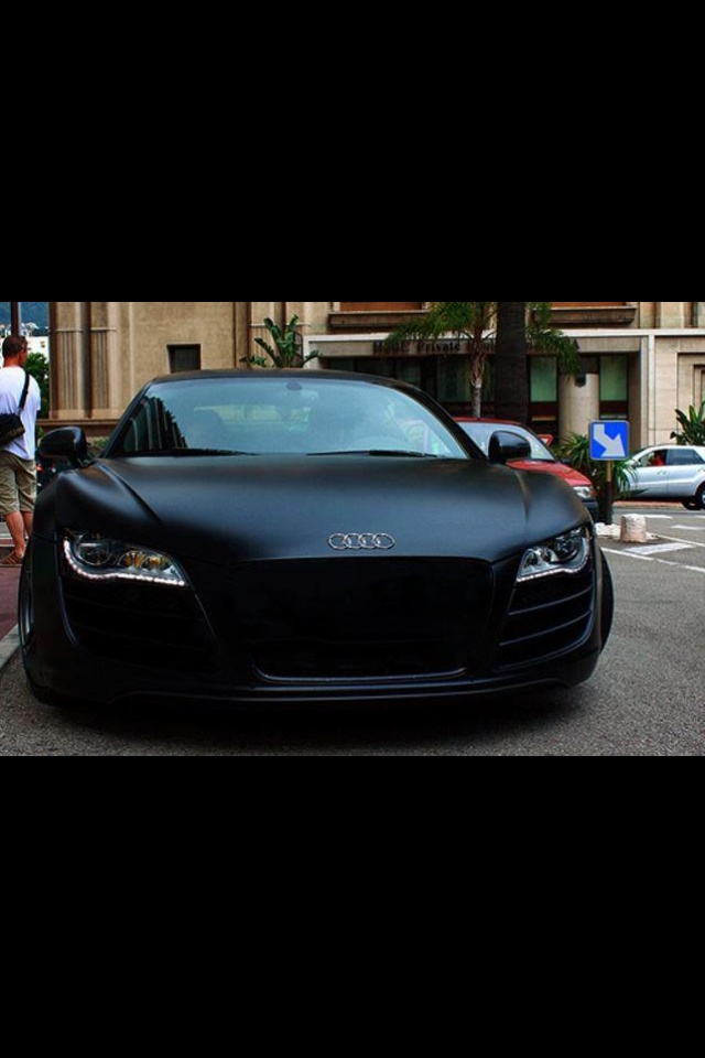 audi r8 flat black paint job dream cars pinterest
