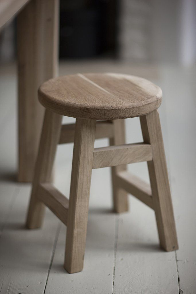 Raw Light Oak Small Stool - Modish Living: The beauty of Raw Wood