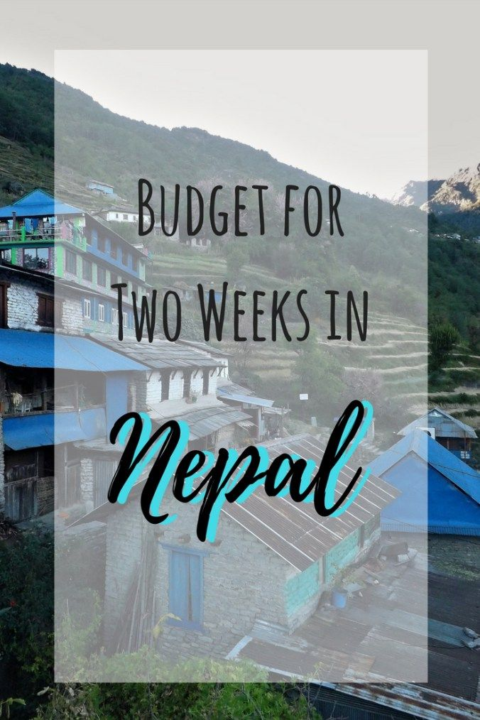 Budget for Two Weeks in Nepal