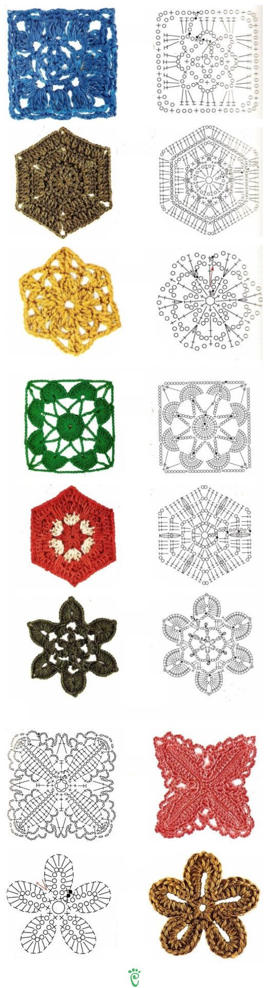 crochet motifs @Af 11/1/13