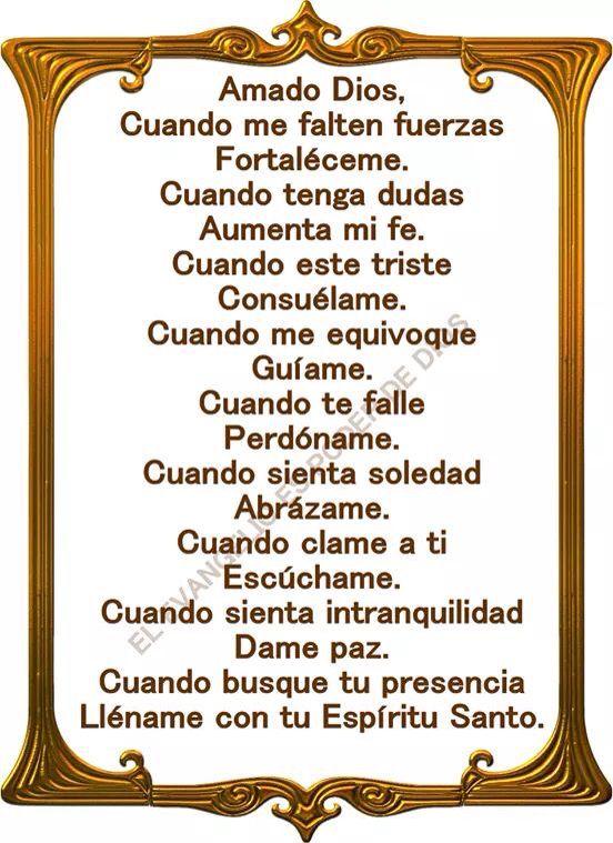 〽️ Amado Dios...
