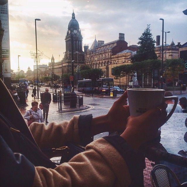 rainy coffee shop