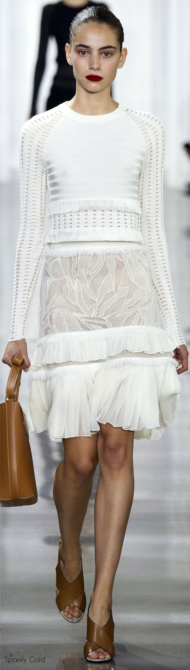 Jason Wu Spring 2016 women fashion outfit clothing style apparel @roressclothes closet ideas