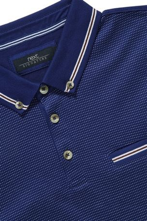 Buy Signature Jacquard Front Polo from the Next UK online shop