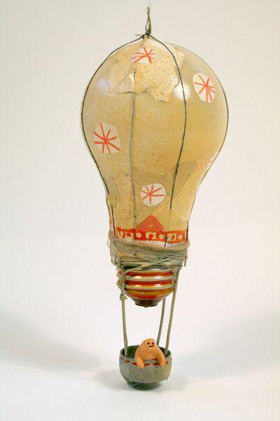 Reusing old lightbulbs.