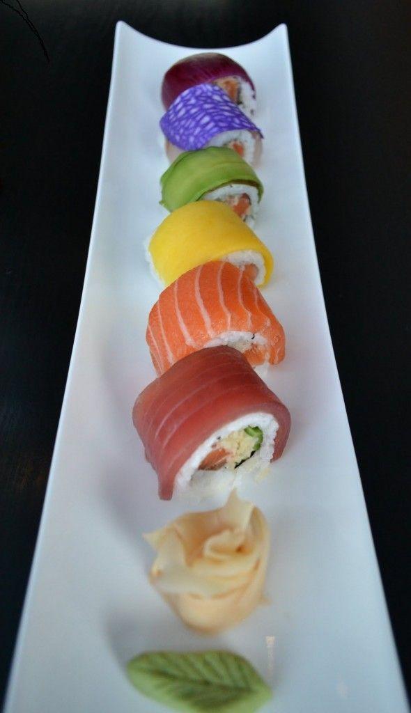 Rainbow sushi roll!