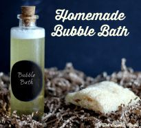 Looking for a non-toxic bubble bath? This homemade bubble bath is safe for all ages and you only need 2 ingredients to make it!