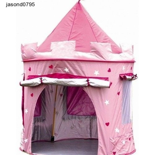 Wendy House Pink Girls Castle Pop Up Tent Playhouse Bedroom Garden Princess Play