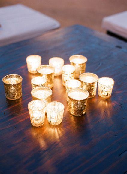 Gold candle votives