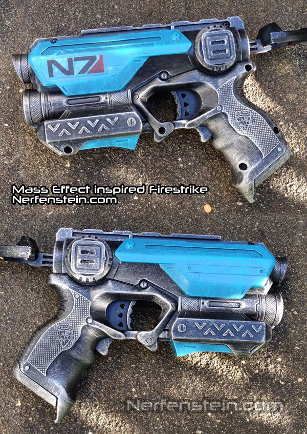 mass effect N7 inspired nerf firestrike pistol mod