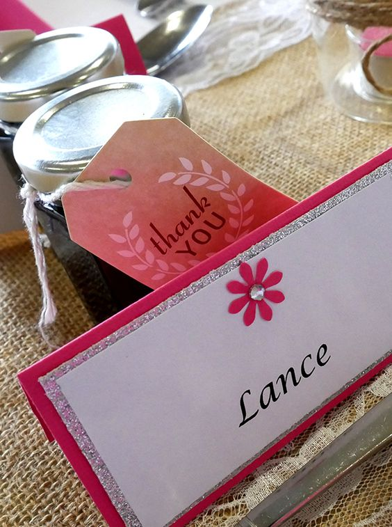 Cute wedding favours one of our Brides made.