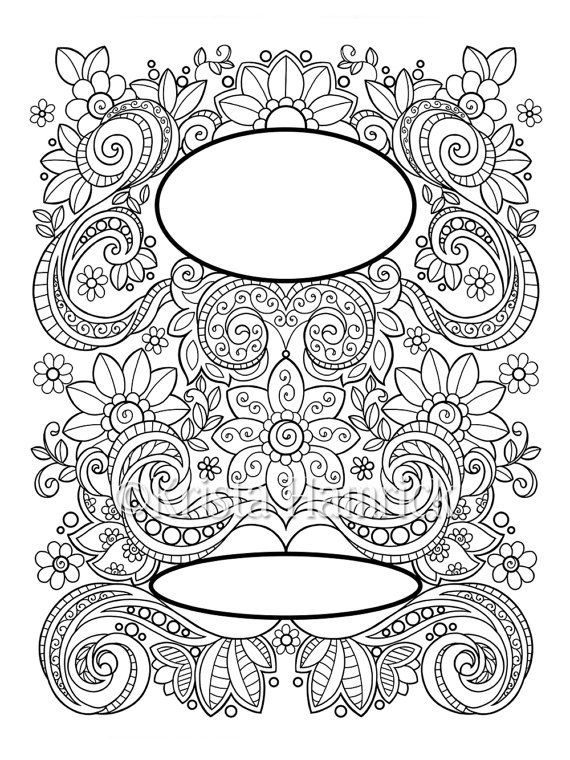 Embellished Title Page Coloring In Two By KristaHamrick