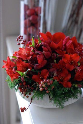 冬のアレンジ : 花のun deux trois