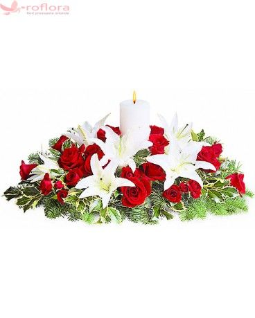 Imperial– Aranjament din trandafiri si crini