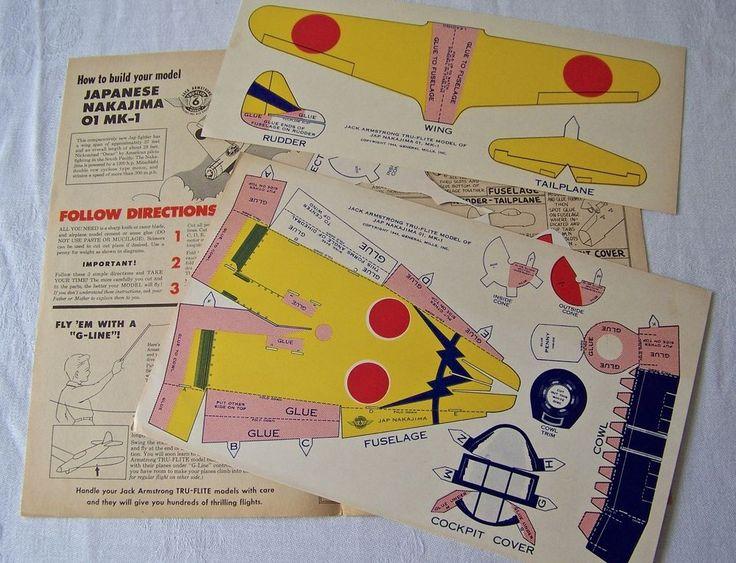 Jack Armstrong Tru-Flite General Mills Model Airplanes 1944 NOS #GeneralMills
