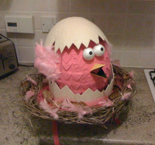 pink chick & egg Easter Bonnet