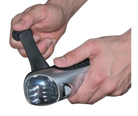 2-Pack: Viatek Handcranking LED Flashlight & Cell Phone Charger