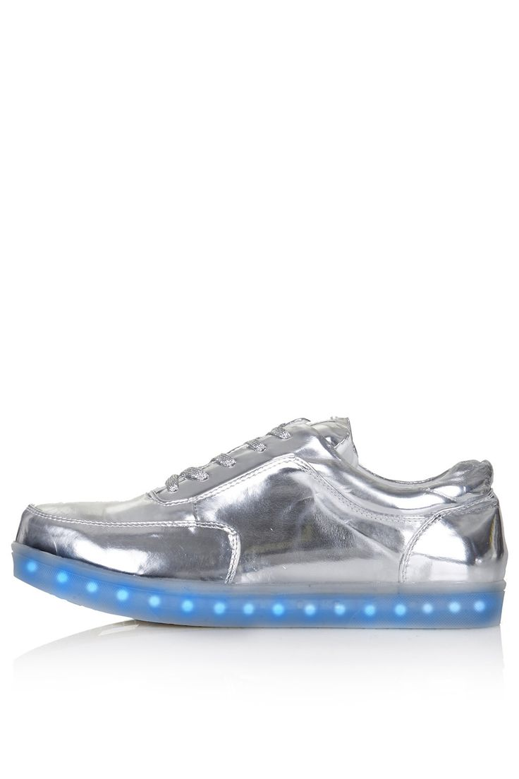 Clearly, these are what I need.  Right. Now. TRANCE Light Up Trainers by Topshop X Glow. A x