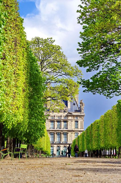 Tuileries Garden ~ public garden located between the Louvre Museum and the Place de la Concorde, Paris, France