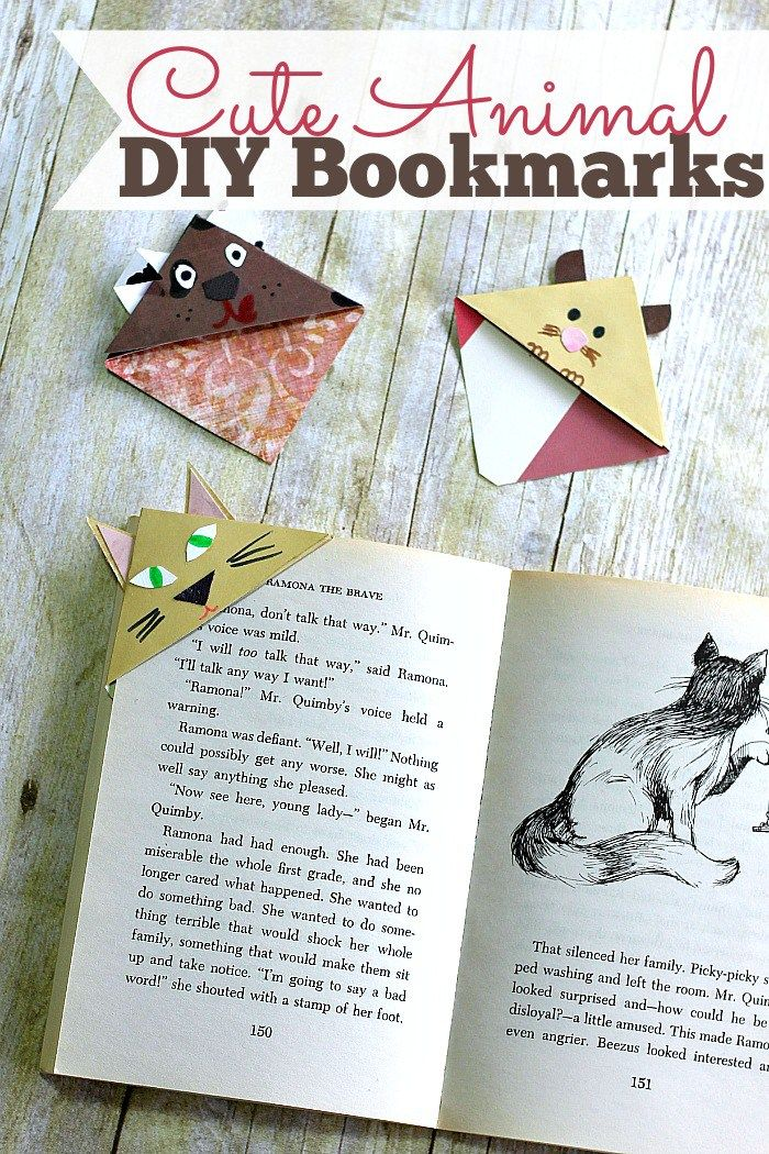 Check out this adorable craft project for all you Pet Lovers! These Cute Animal DIY Bookmarks are the perfect way to guard your book pages while you're gone! {Crayons and Collars}
