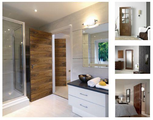UK Branded Wide Range Of Modern Walnut Doors For Home Office Homedecor