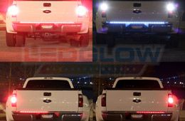LEDGlow's 60 Inch Red and White LED Tailgate Light Bar features a slim, durable design that brings added safety and visibility with 60 red LEDs and 22 white LEDs. The tailgate light bar provides the best illumination to clearly signal other vehicles.