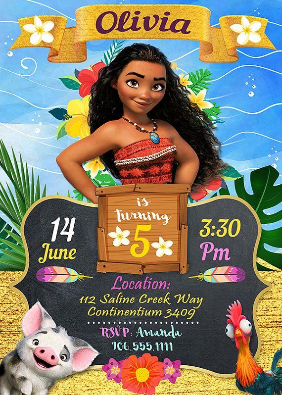 Moana Invitation Moana Moana Party Moana Printable Moana