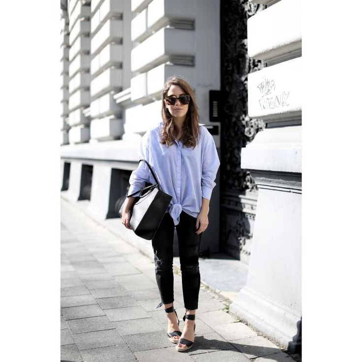 The Dashing Rider Relaxed Boyfriend Shirt Outfit by Fiona Dinkelbach
