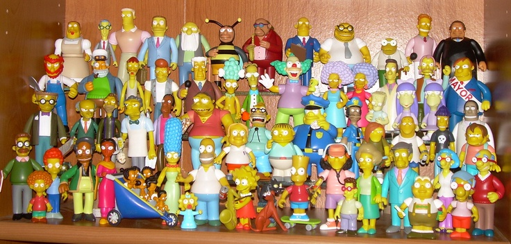 """The Simpsons 5"""" figures by Playmates"""