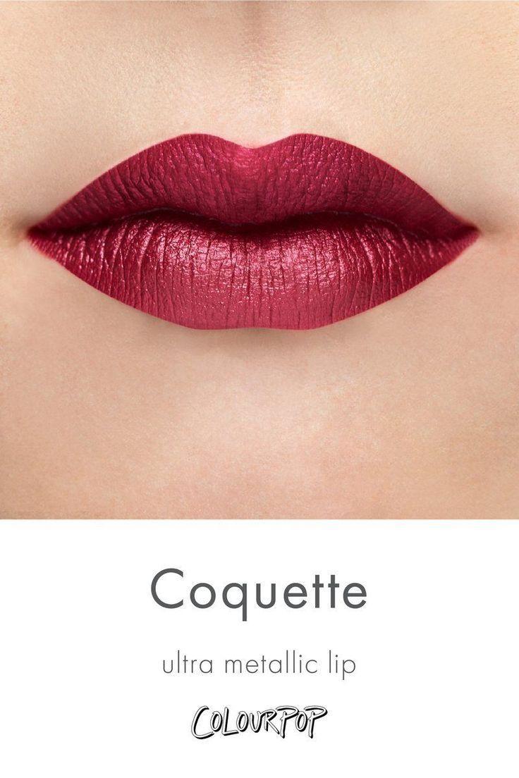 Coquette Rich Merlot Red Purple Ultra Metallic Lipstick Swatch On Fair Skin Lip Coquette Fair Lipstick Swatches Purple Lipstick Makeup Fair Skin Makeup