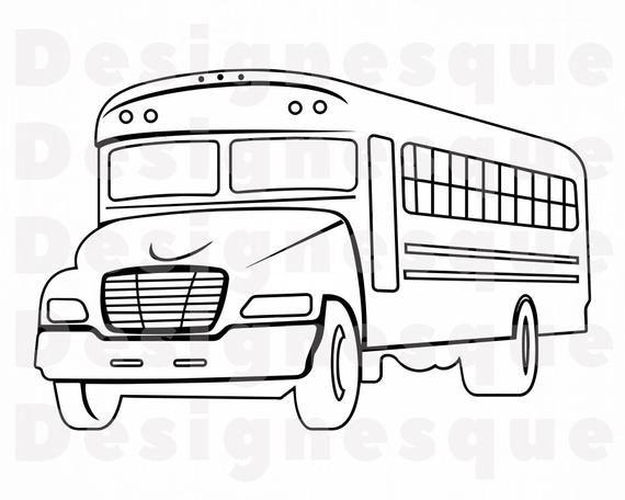 School Bus Outline 2 Svg School Bus Svg School Bus Clipart Etsy In 2021 School Bus Clipart School Bus Drawing School Bus